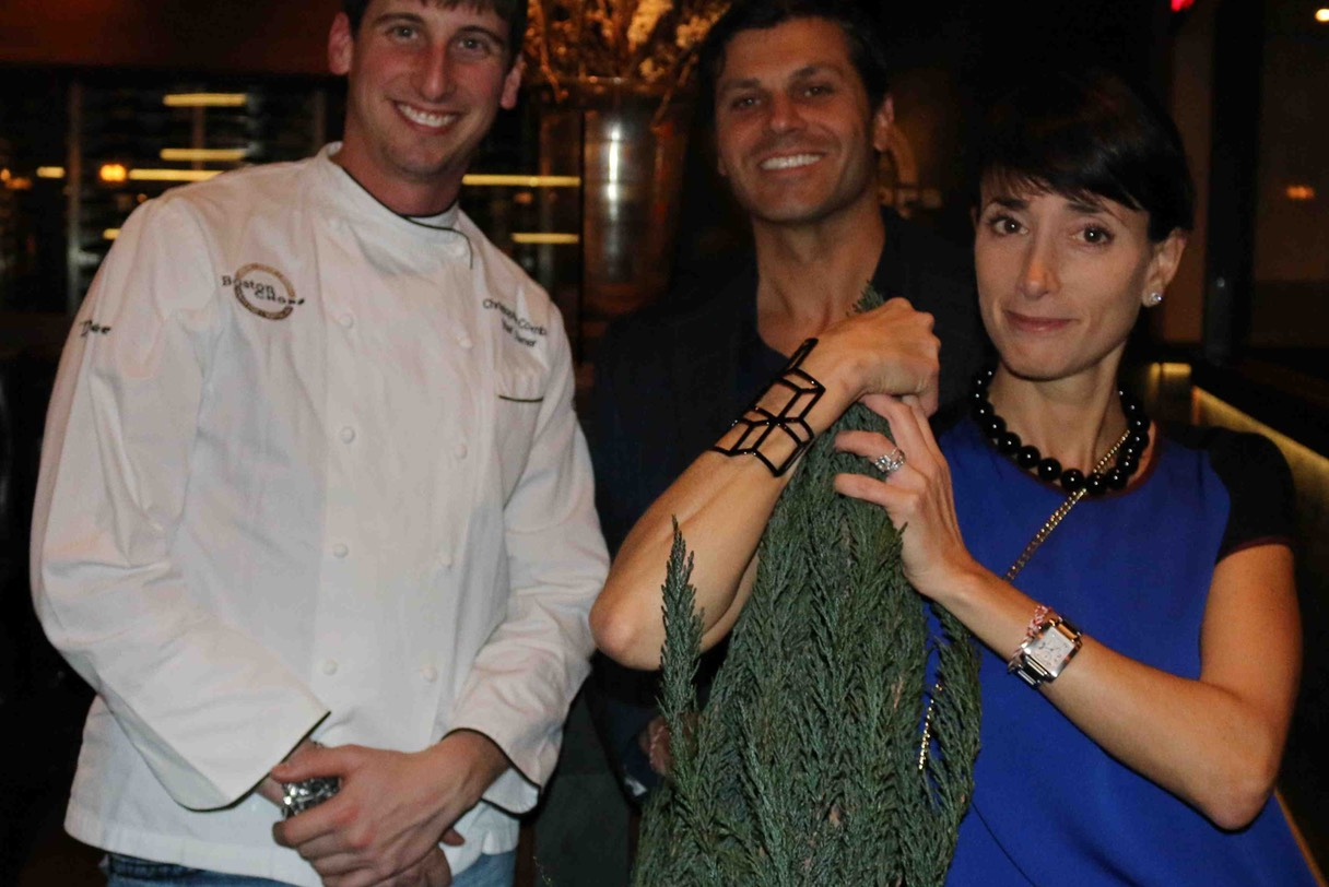 Chef Owner Christopher Coombs, Chevalier Peter Georgantas & Vice Chancelier-Argentier Elizabeth M Georgantas