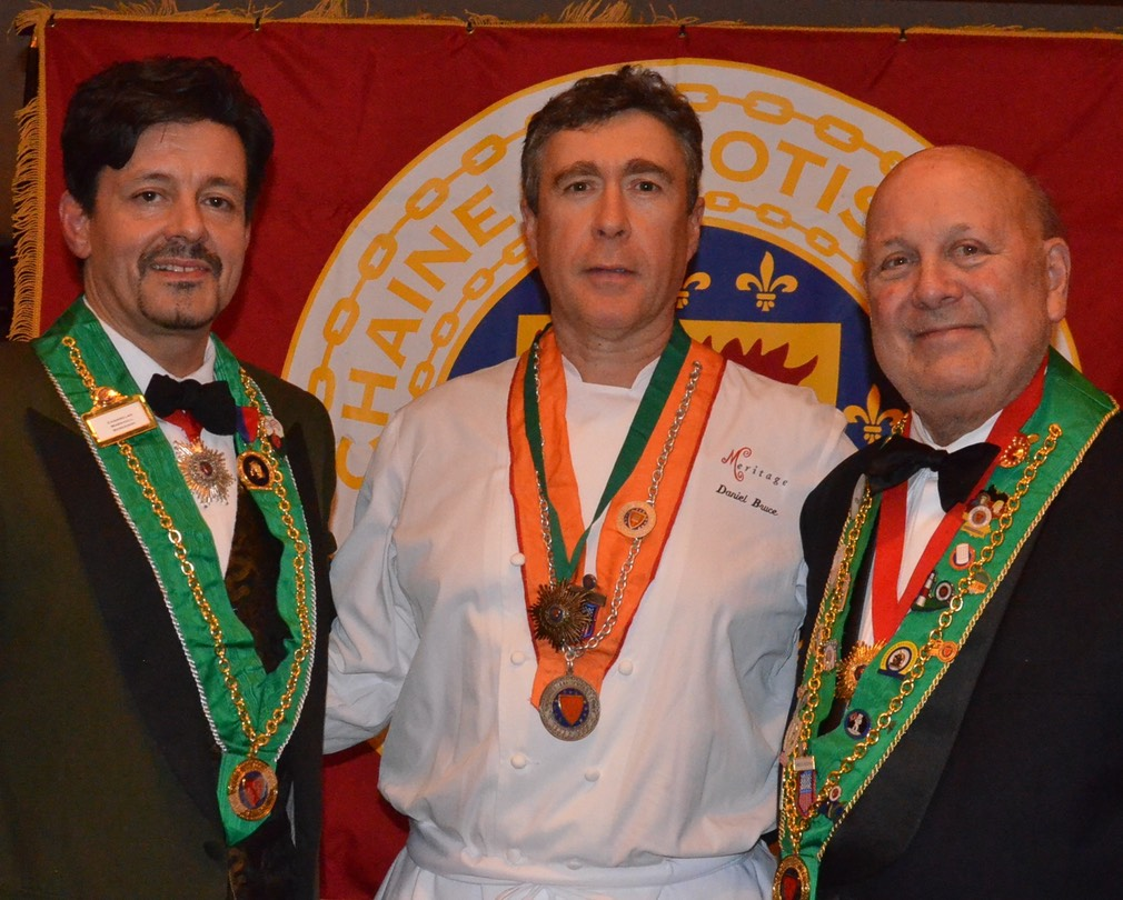 Chambelan Provincial Nord-est, Bailli de Boston Marshall L. Berenson, Bronze Star of Excellence Recipient Vice Concelier Culinaire Daniel T. Bruce and Bailli Provincial Nord-est Gabor Huszar, M.D.