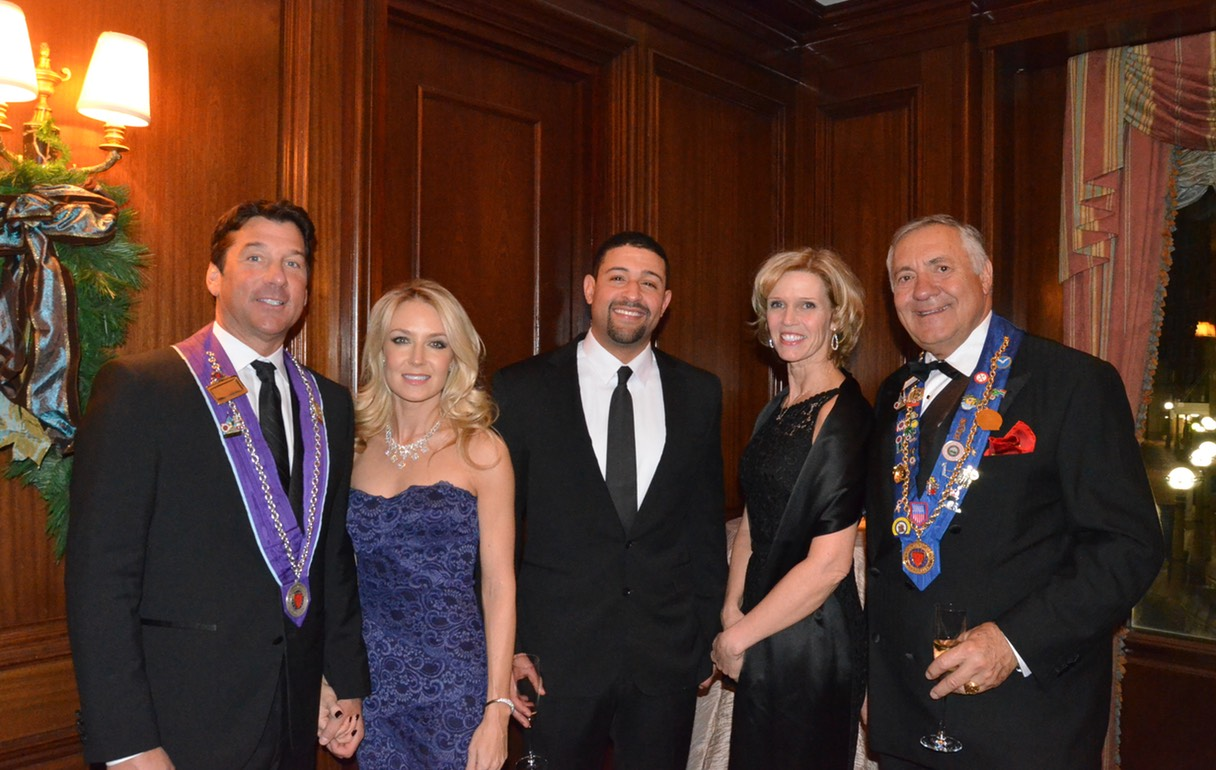 Chevalier Alexander W. Vlachos, Ms. Shannon Noelle Pastuszak, Chevalier Paul Barros, Ms. Kathy L. Lynch and Vice Charge de Pressé Richard DeAgazio